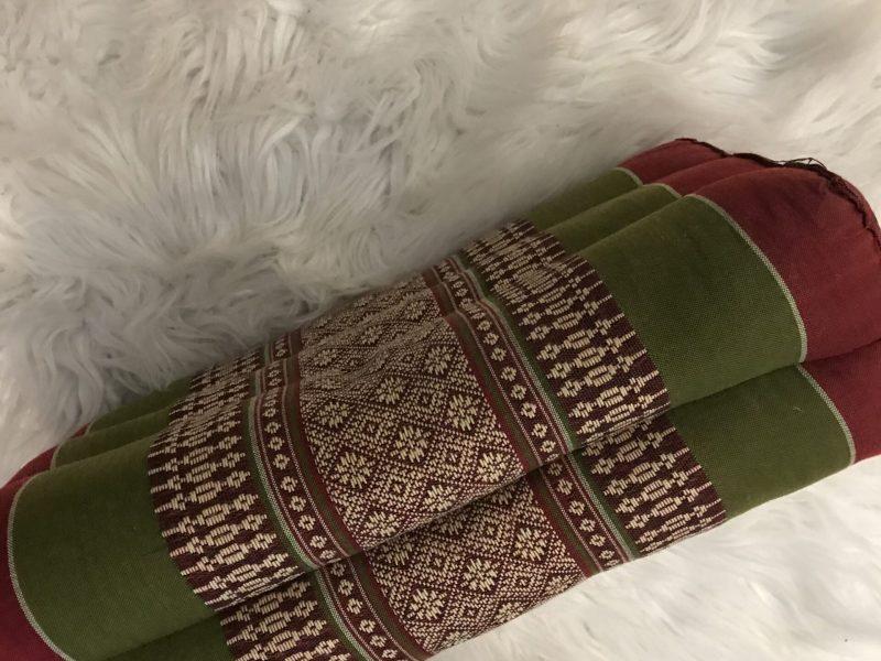 Thai Block Yoga Pillow Side View